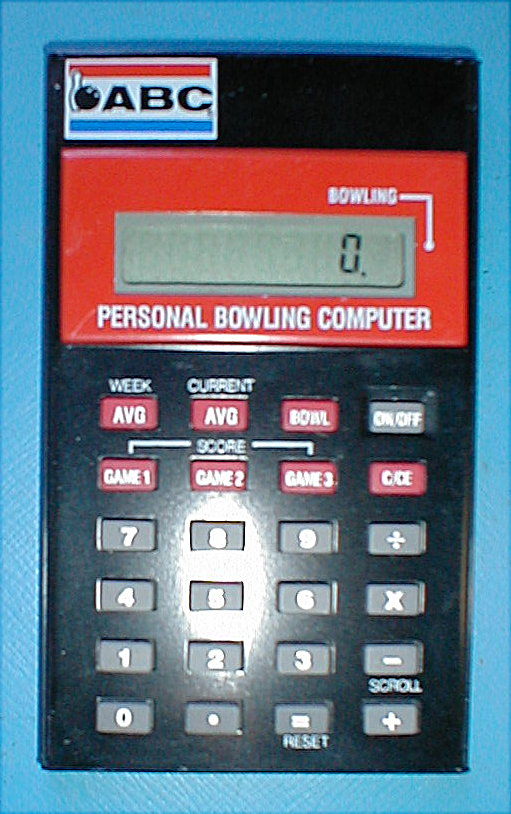 mark > s specialty calculators personal bowling computer in addition to functioning as a four function calculator this machine also manages bowling scores and computes averages