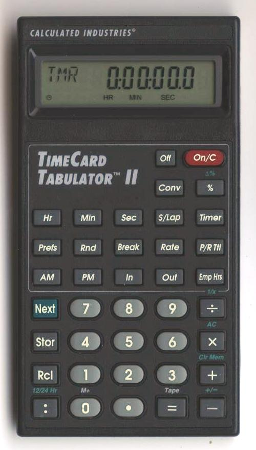 time card tabulator ii
