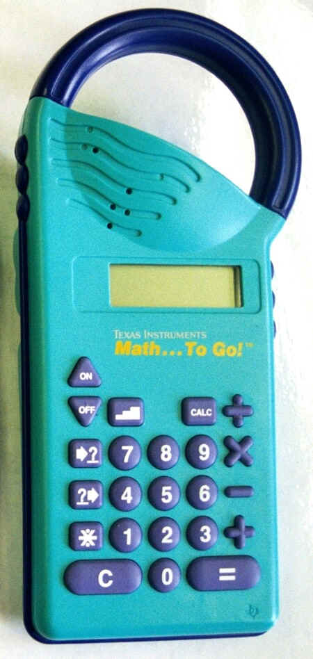 mark > s specialty calculators 1 ti math to go a 01980 s update of the little professor complete convenient handle can also be used as a four function calculator